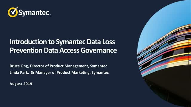 An Introduction to Symantec DLP Data Access Governance.