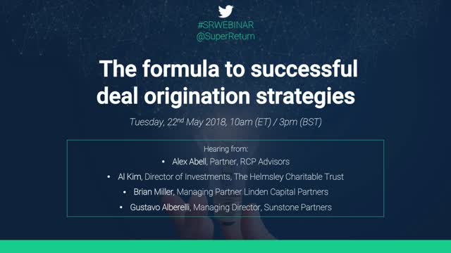Webinar: the formula to successful deal original strategies