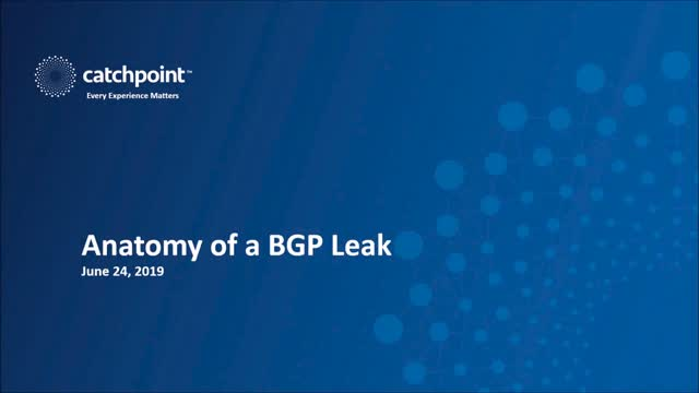 Anatomy of an Outage: BGP Leak
