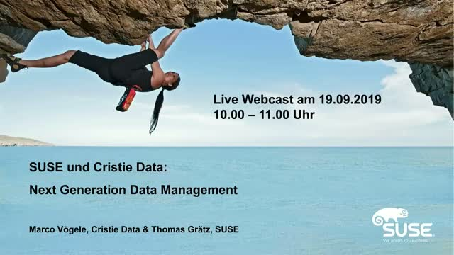 SUSE und Cristie Data: Next Generation Data Management
