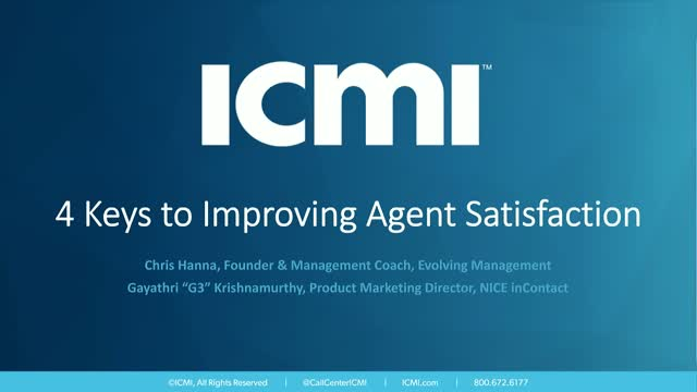 4 Keys to Improving Agent Satisfaction
