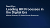 Leading HR Processes in the Digital Era