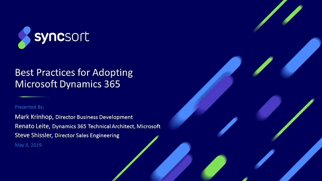 Best Practices for adopting Microsoft Dynamics 365