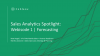 Sales Analytics Spotlight: Forecasting