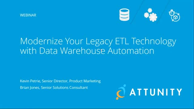 Modernize Your Legacy ETL Technology with Data Warehouse Automation