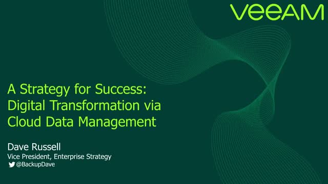 A Strategy for a Successful Data Management led Digital Transformation