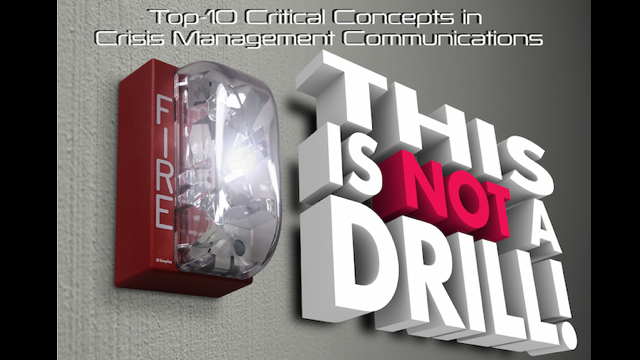 Top 10 Critical Concepts in Crisis Management Communications