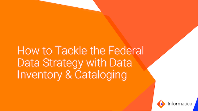 How to Tackle Federal Data Strategy w/ Data Inventory & Cataloging