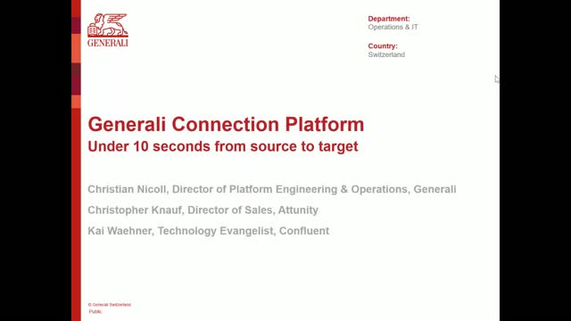 Generali Real-time Data Streaming in the Insurance Industry