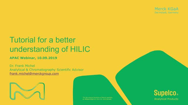 Tutorial for a better understanding of HILIC