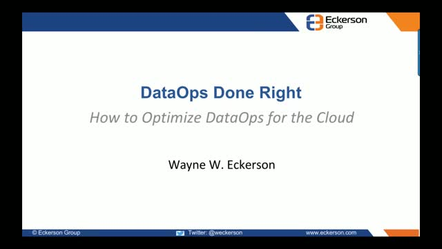 DataOps Done Right: How to Optimize DataOps for the Cloud