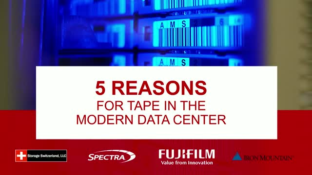 Five Reasons Modern Data Centers Need Tape