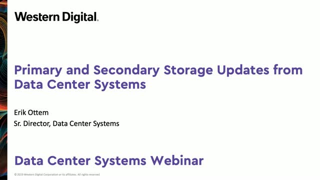 Storage Updates from Western Digital