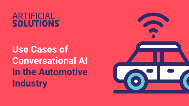 Use Cases for Conversational AI in the Automotive Industry