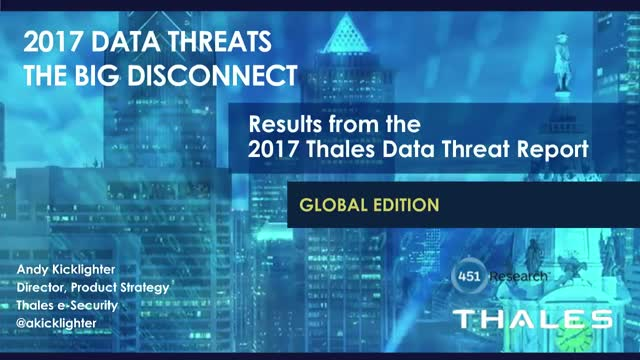 2017 Data Threats – The Big Disconnect