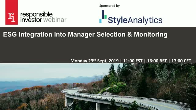 ESG Integration into Manager Selection & Monitoring