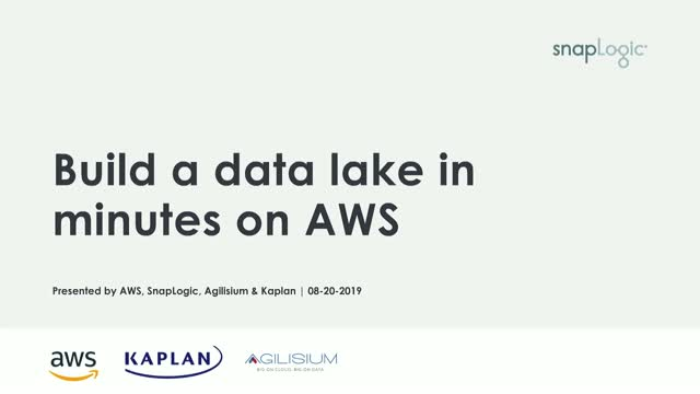 Build a data lake on AWS in minutes – Live demo