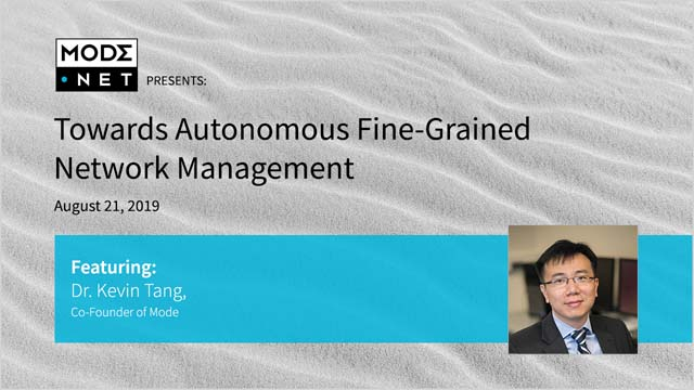 Towards Autonomous Fine-Grained Network Management