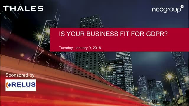 Is Your Business Fit for GDPR?