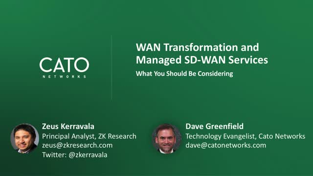 The 5 most important considerations when selecting a SD-WAN service