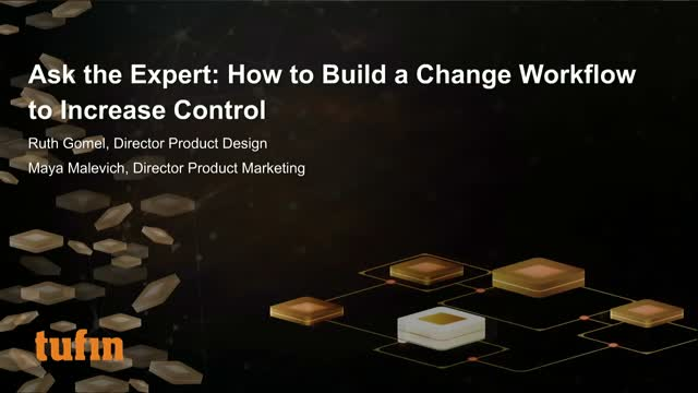 Webinar: How to Build a Change Workflow to Increase Control