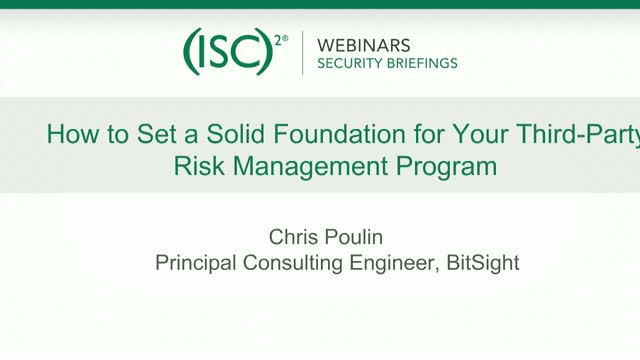 Bitsight #1: How to Set a Solid Foundation for Your Third-Party Risk Management
