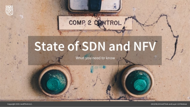 The state of NFV/SDN - what we need to know
