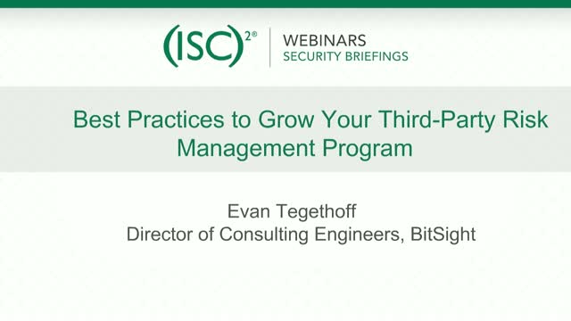 Bitsight #2: Best Practices to Grow Your Third-Party Risk Management Program