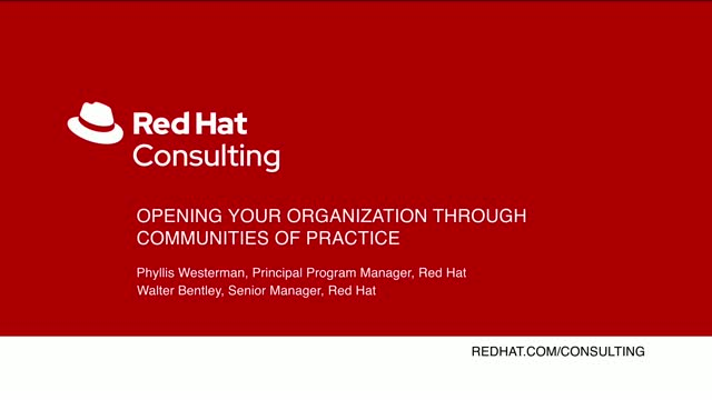 Opening your organization through Communities of Practice