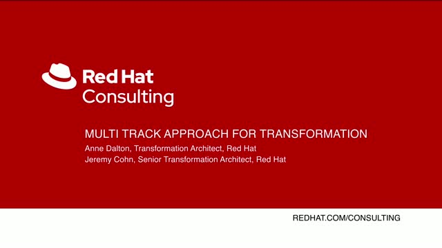 Multi track approach for transformation