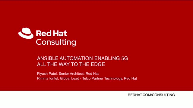 Ansible Automation enabling 5G all the way to the edge