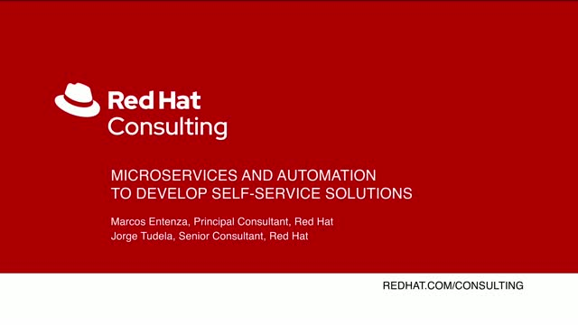 Microservices and automation to develop self-service solutions