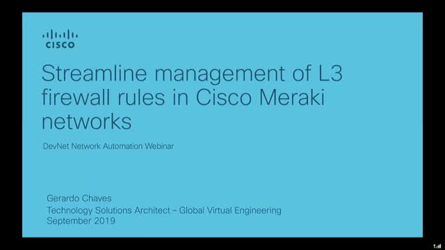 Streamlining Management of L3 firewall rules in Cisco Meraki Networks