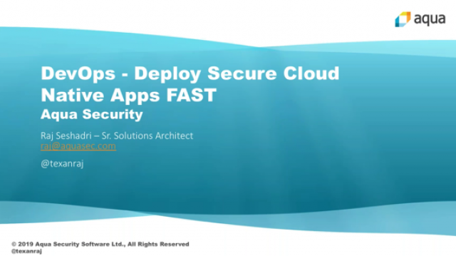 DevSecOps - Deploy Secure Cloud Native Apps FAST