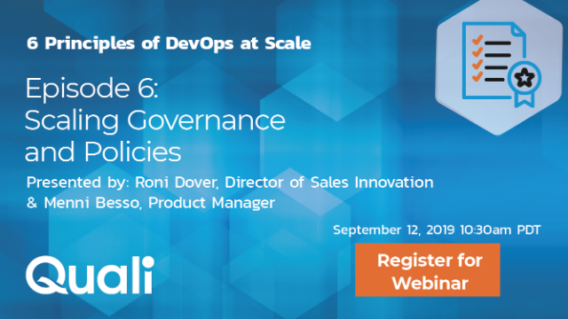 Scaling DevOps Episode 6: Scaling governance and policies