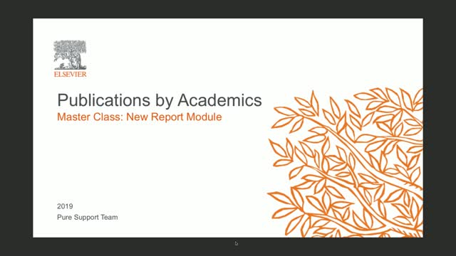 New Report Module Master Class: Publications By Academics