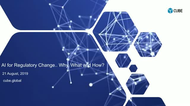 AI for Regulatory Change... why, what and how?