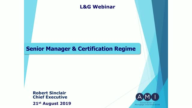Are you aware of the Senior Managers and Certification Regime?