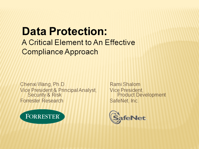 Data Protection: The Critical Element to an Effective Compliance Approach