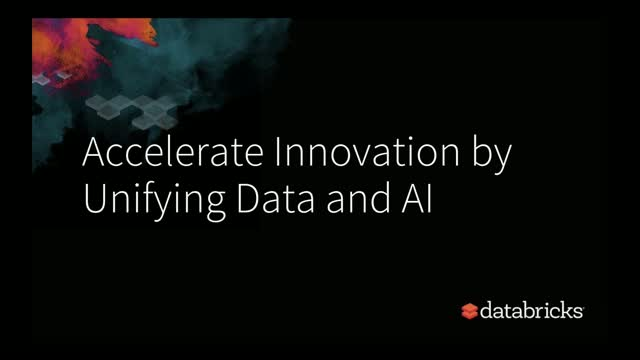Accelerate Innovation by unifying Data and AI