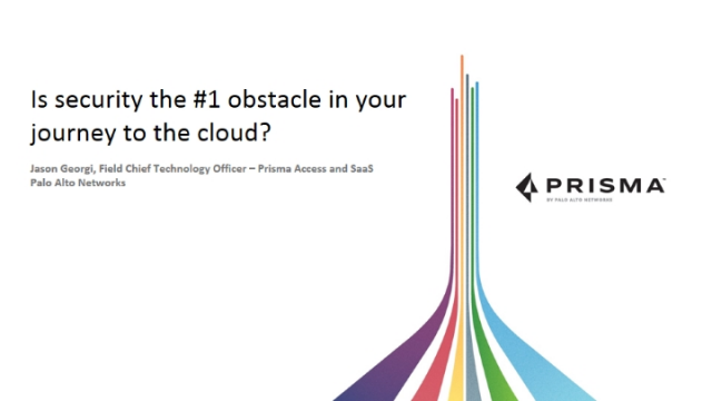 Is security the #1 obstacle in your journey to the cloud?