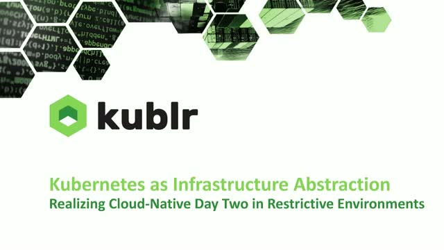 Kubernetes as Infrastructure Abstraction