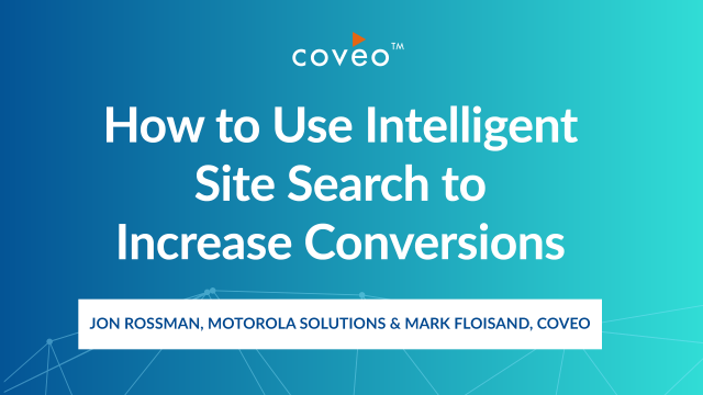 How to Use Intelligent Site Search to Increase Conversions