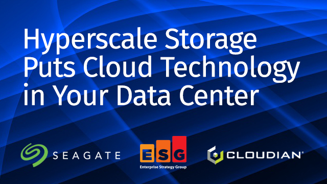 Break from Traditional IT: Hyperscale Storage Puts Clouds in Your Data Center