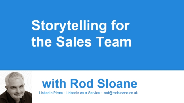 Storytelling for the Sales Team
