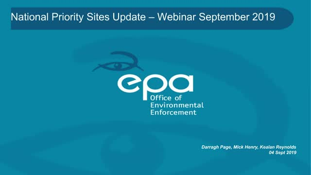 National Priority Sites Update