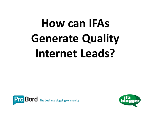 How Advisers Can Generate Quality Internet Leads