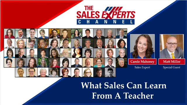 What Sales Can Learn From A Teacher