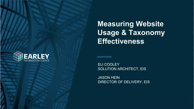 Measuring Website Usage and Taxonomy Effectiveness