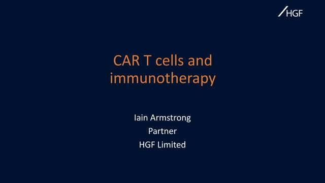 CAR-T and other immunotherapies